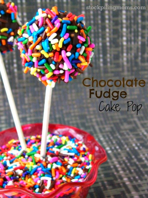 Chocolate Fudge Cake Pop is perfect for a birthday or celebration.