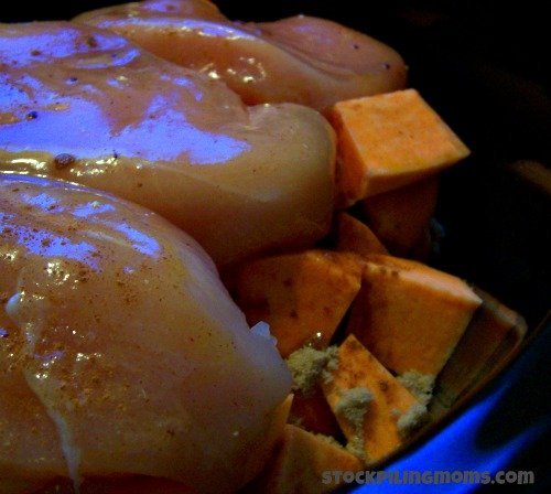 Only 5 ingredients in this delicous chicken recipe made in the slow cooker!
