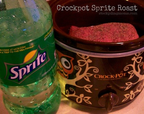 Crockpot Sprite Roast is so easy to make and tastes delicious!