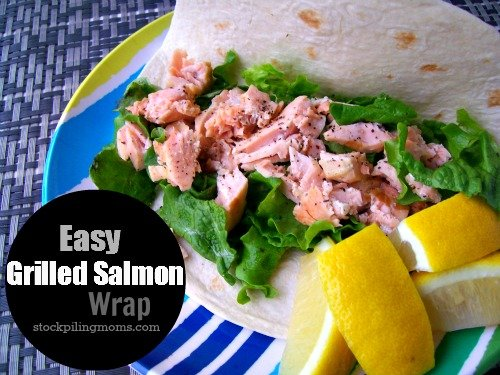 Easy Grilled Salmon Wrap is light and fresh and perfect for Lent.