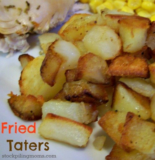 Fried Taters are the best Southern Comfort food!