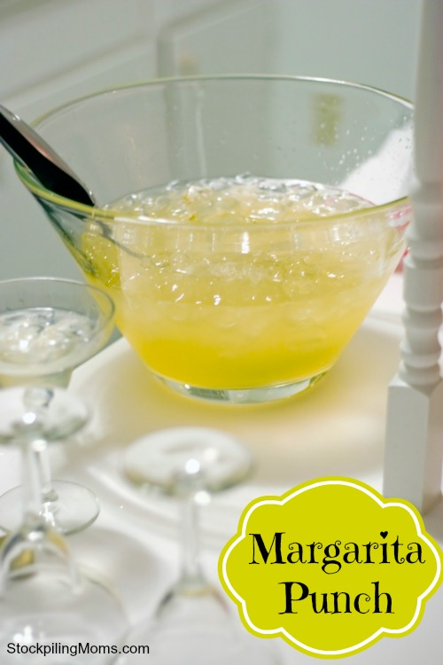 A punch bowl full of margarita punch is perfect for any special occasion or party!