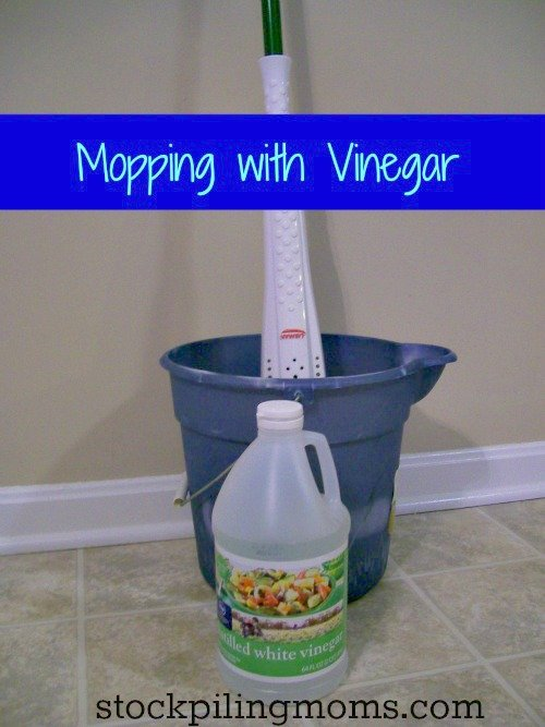 Mopping with Vinegar - Safe for most Floor Types