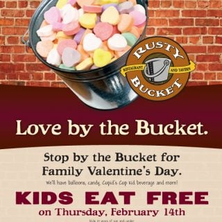 Rusty Bucket Family Valentine's Day :: #Cincinnati