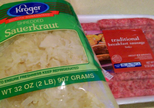 Sausage and Sauerkraut is an easy one dish meal that is perfect for the New Year!