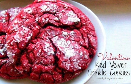 Valentine Red Velvet Crinkle Cookie