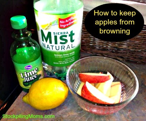 How to keep apples from browning. This is a tip that will save you money!