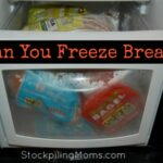 can you freeze bread