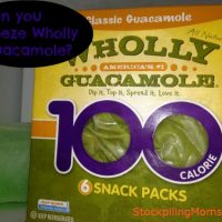 Can you freeze Wholly Guacamole?