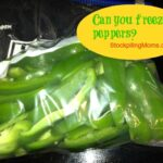freeze green pepper