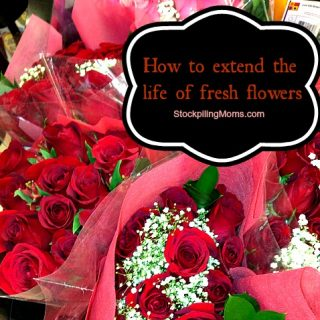 How to extend the life of fresh flowers