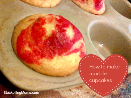 I love to make my own marble cupcakes for Valentine's Day using kool-aid!