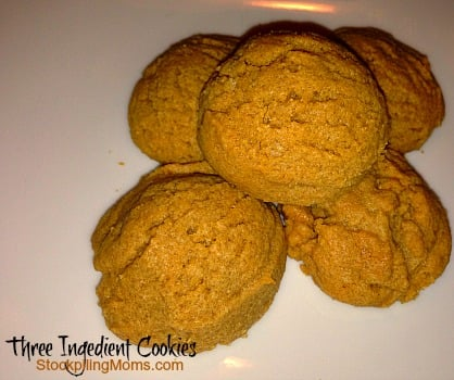 You can't get easier than these 3 ingredient cookies! They are delicious too!
