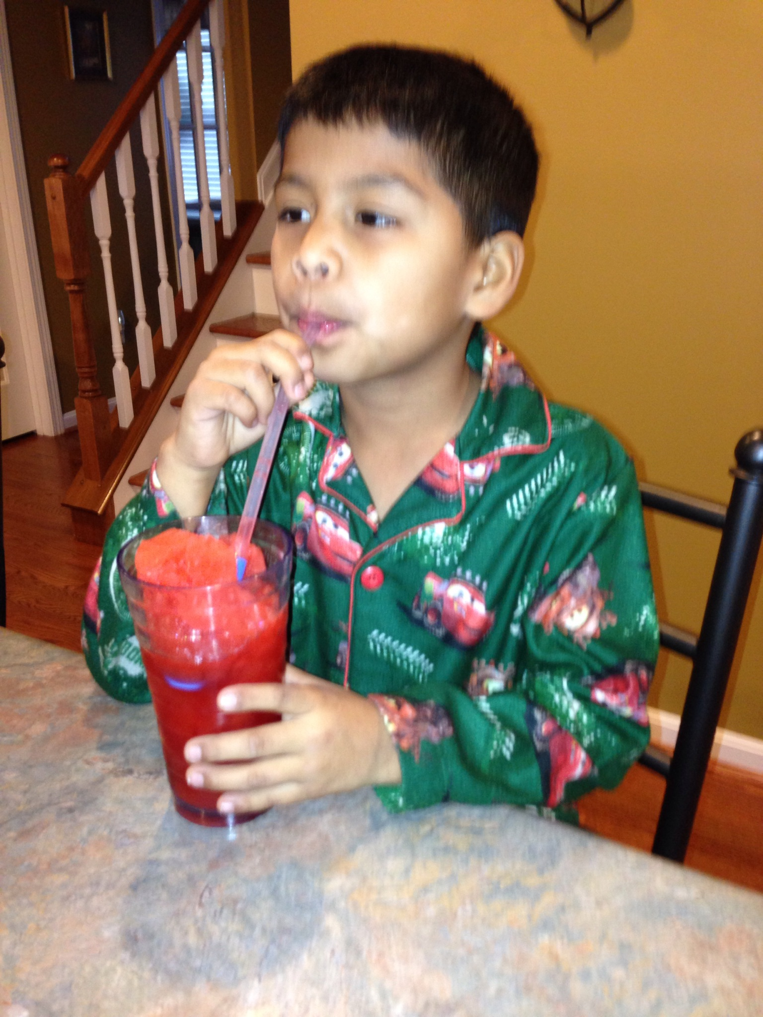 Make your own slushy magic with your kids! I promise you they will be impressed and it is an inexpensive treat!
