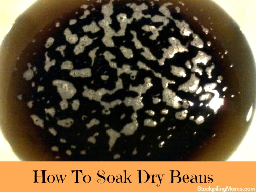 I wanted to share with you some tips on how to soak dried beans. It is a great way to stretch your families budget.