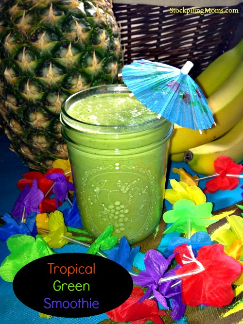 This tropical green smoothie reminds me of Hawaii!