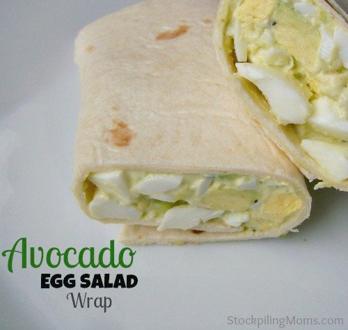 This Avocado Egg Salad Wrap is a healthy lunch recipe that is perfect for on the go.
