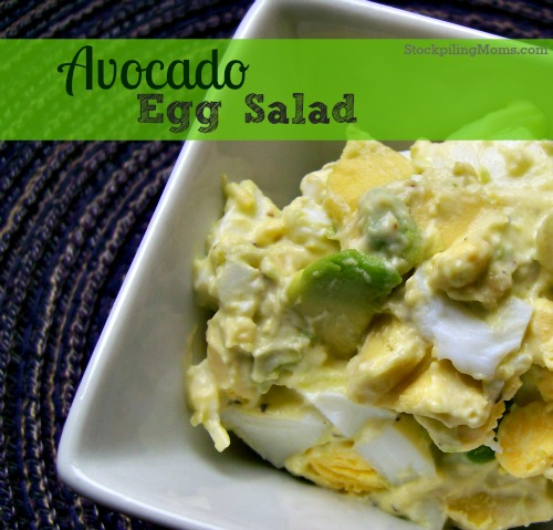A twist on traditional egg salad is amazing!