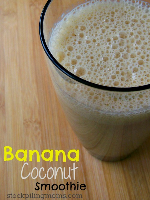 Banana Coconut Smoothie is a refreshing beverage to start your morning!