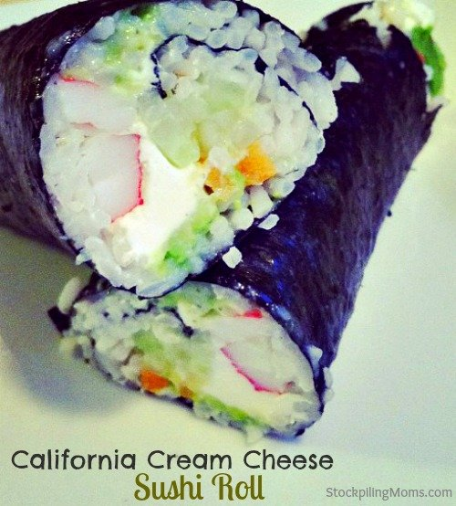 California Cream Cheese Sushi Roll is so delicious and easy to make!