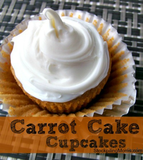 Carrot Cake Cupcakes are the most delicious dessert for Easter. They are moist and so easy to make.