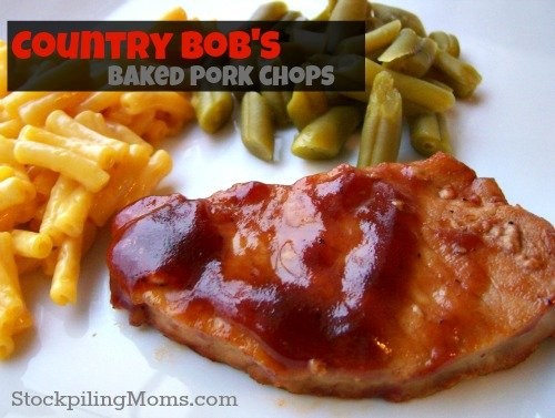 Country Bob's Baked Pork Chops are moist and delicious!