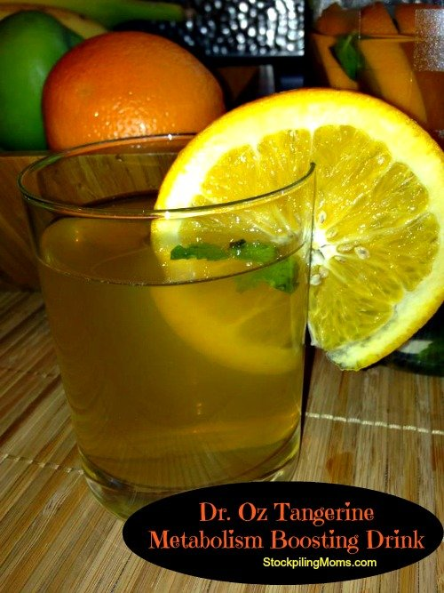 Dr. Oz Tangerine Metabolism Boosting Drink is a great way to get your weight loss in action!