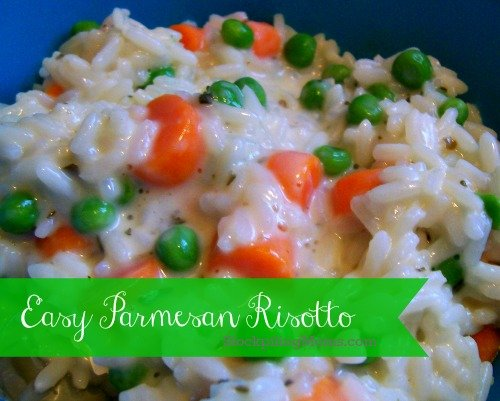 Easy Parmesan Risotto is a delicious gluten free side dish.