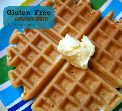 It doesn't get better than a Gluten Free Cinnamon Waffle for breakfast!