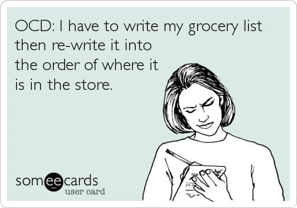 Grocery Store List Humor