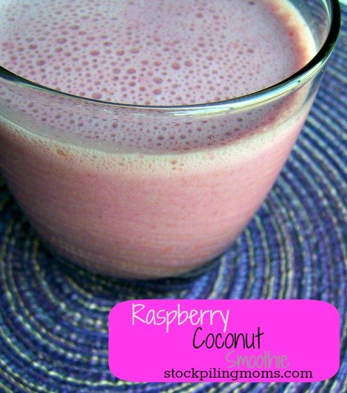 This Raspberry Coconut Smoothie is so refreshing and provides so many nutrients in one glass!