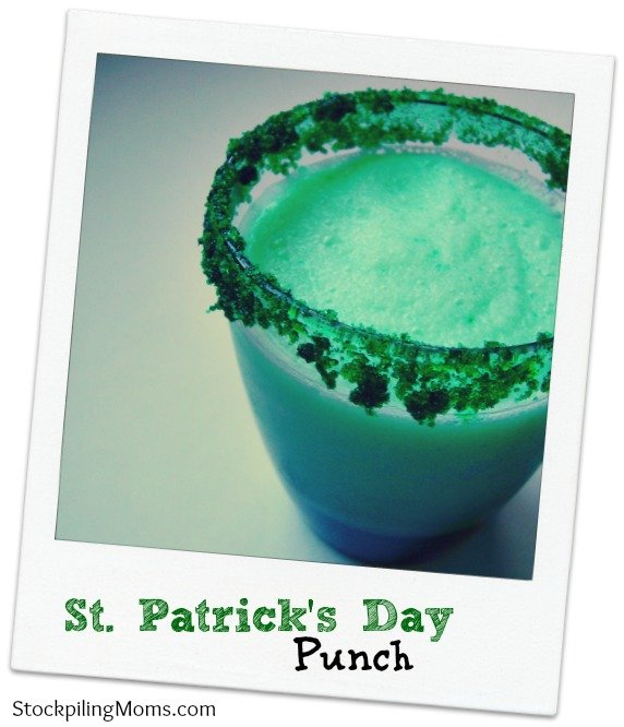 St. Patrick's Day Punch is easy to make and tastes delicious!