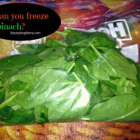Can you freeze spinach?