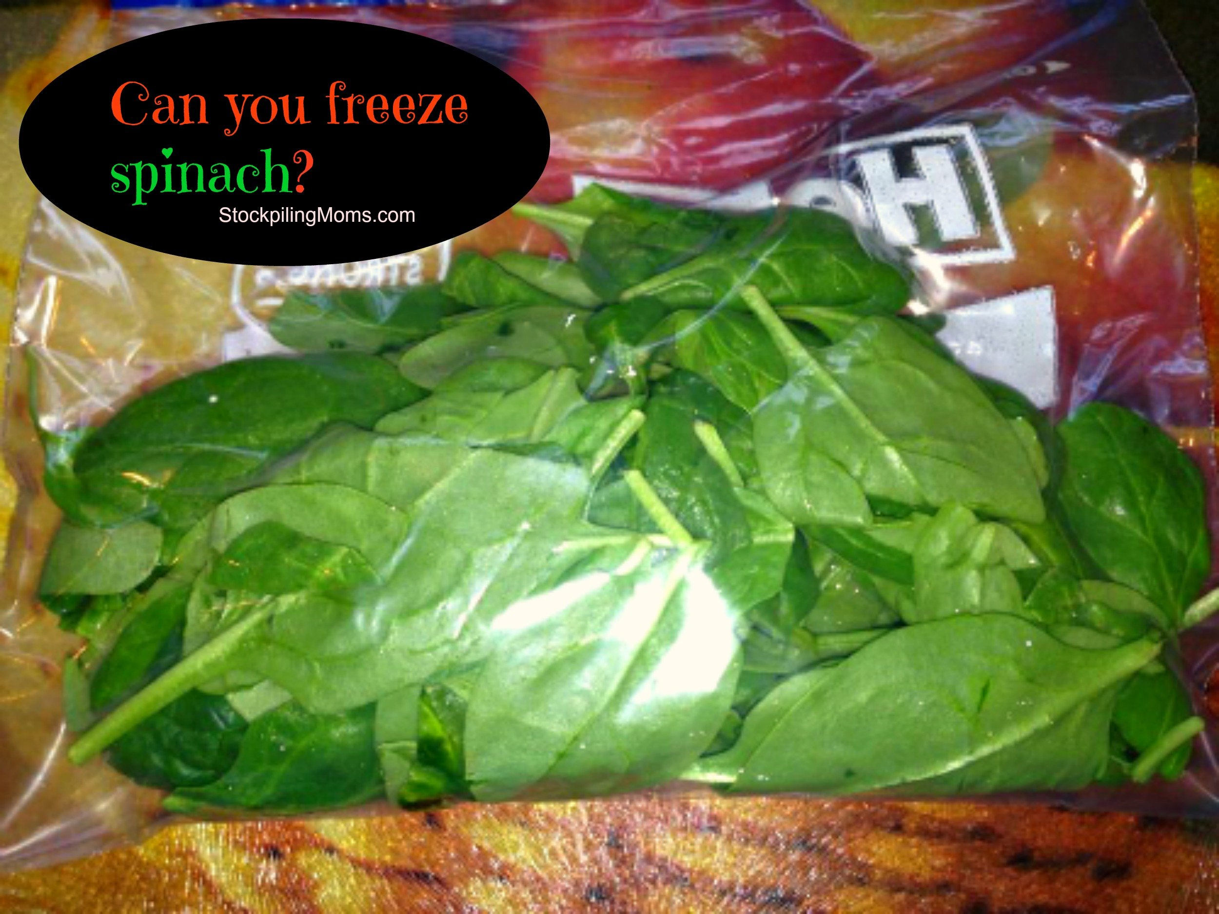 can you freeze spinach