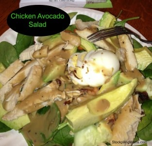 Chicken Avocado Spinach Salad is full of all the super foods that you need for a healthy lunch!