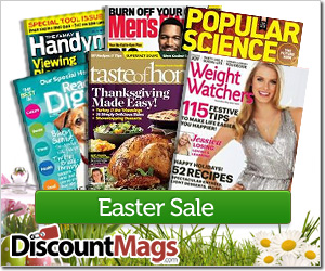 Easter Sale! Pick 2 Magazines for 9.99 + Share on FB & Get a 3rd For FREE!