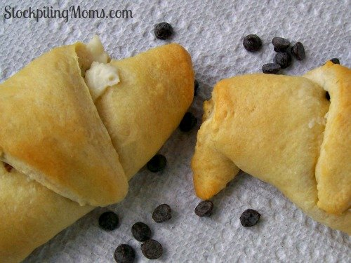 Only 3 ingredients in these easy Chocolate Chip Cream Cheese Rolls!
