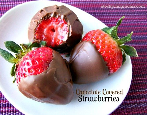 Chocolate Covered Strawberries are easy to make. Don't pay the expensive price for them when you can make them yourself. Such an easy and delicious special treat to make for Valentine's Day.