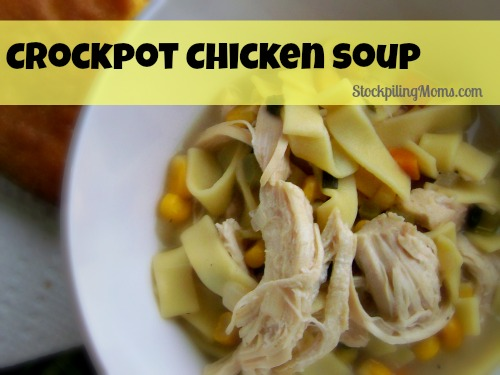 There is nothing better than Crockpot Chicken Soup on a cold day.
