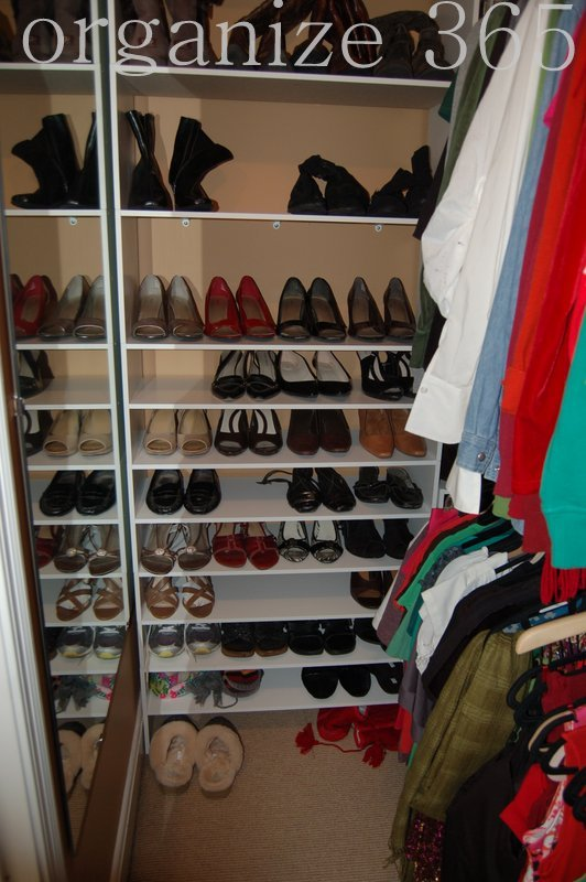 ask the organizer how to organize shoes. Black Bedroom Furniture Sets. Home Design Ideas