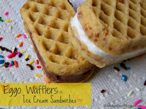 Eggo Wafflers Ice Cream Sandwiches are perfect for the kids! #summer #kids