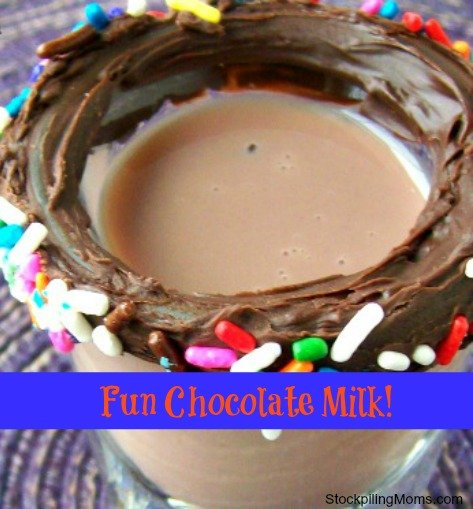 Fun Chocolate Milk makes my kids smile!