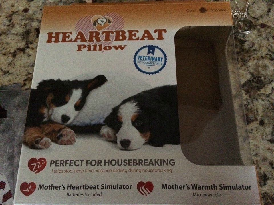 Heartbeat Dog Pillow - Perfect For New Puppies