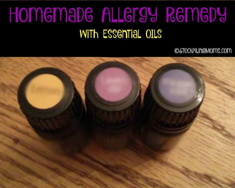 Homemade Allergy Remedy With Essential Oils