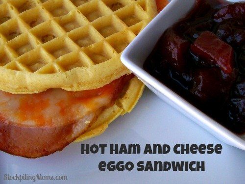 Hot Ham and Cheese Eggo Sandwich
