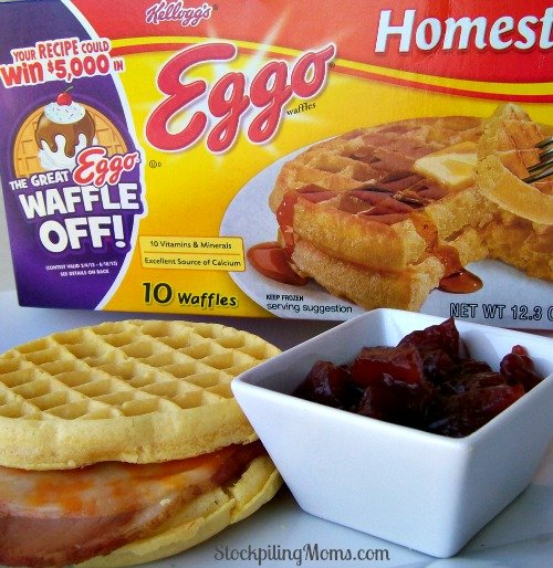 Hot Ham and Cheese Eggo Sandwich is a twist on the classic sandwich.
