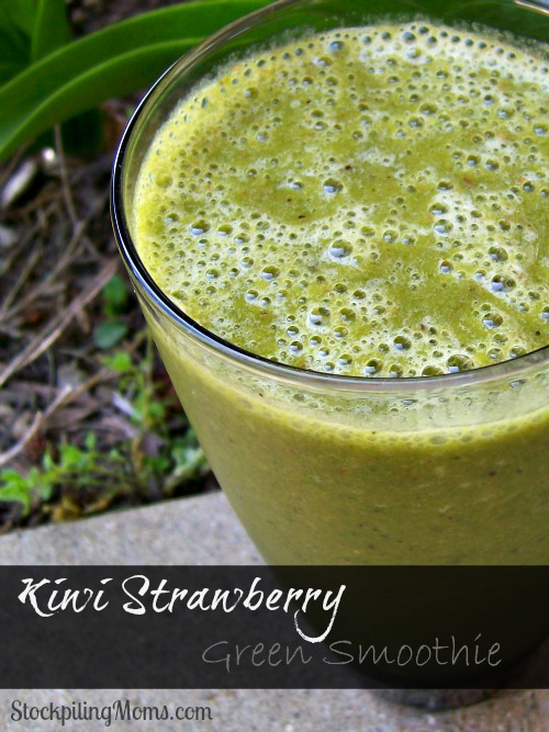 Kiwi Strawberry Green Smoothie is so refreshing and energizing! A great way to start your day!