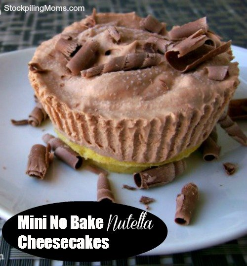 It doesn't get better than this Mini No Bake Nutella Cheesecakes Recipe