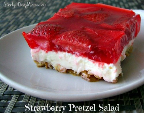 Strawberry Pretzel Salad is the perfect combination of sweet and salty. I love to serve this delicious dessert at summer parties.