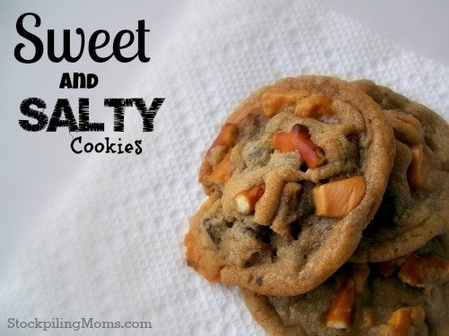 Sweet and Salty Cookies are the perfect combination when you can't decide if you want something sweet or salty to snack on! Its it the best of both worlds.